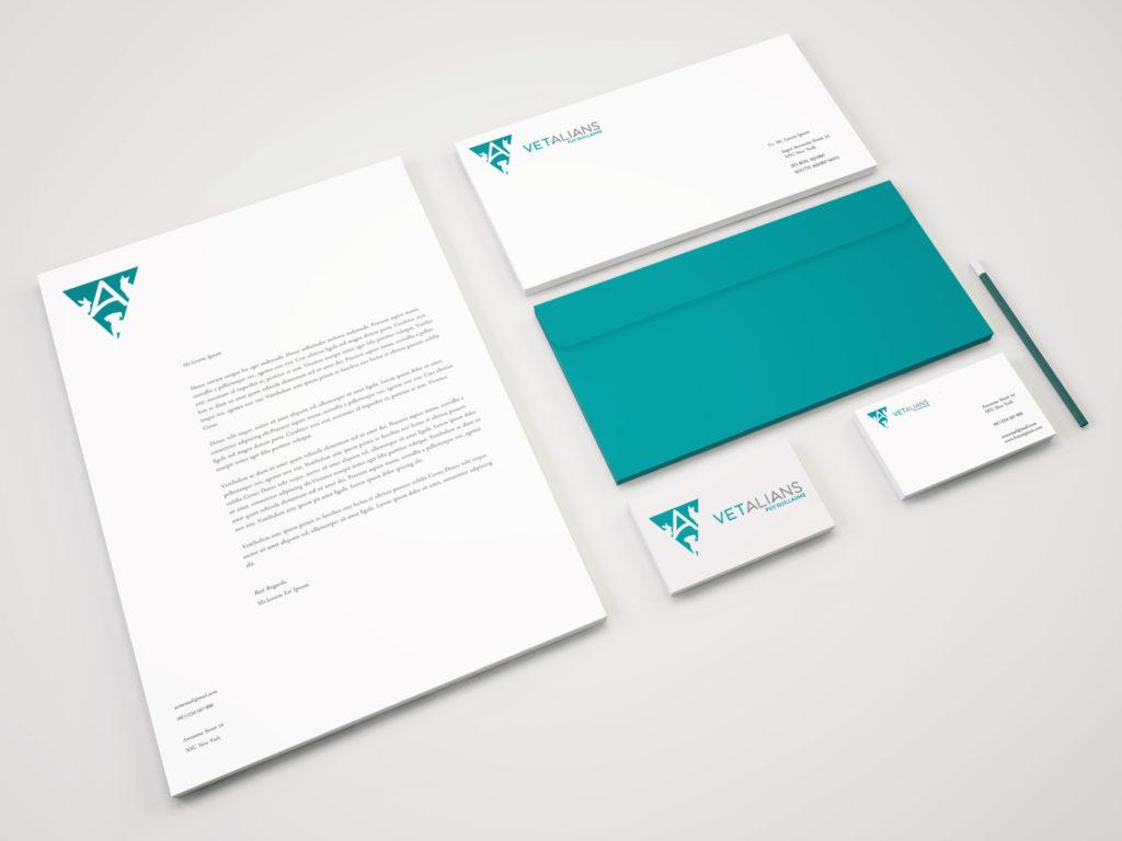 Logo Vétalians Puy Guillaume, clinique vétérinaire, Réalisation 2018 - Print - Matthieu Loigerot