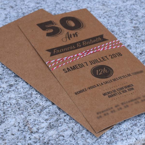 Invitation, Anniversaire 50 Ans - Réalisation 2018 - Print - Matthieu Loigerot