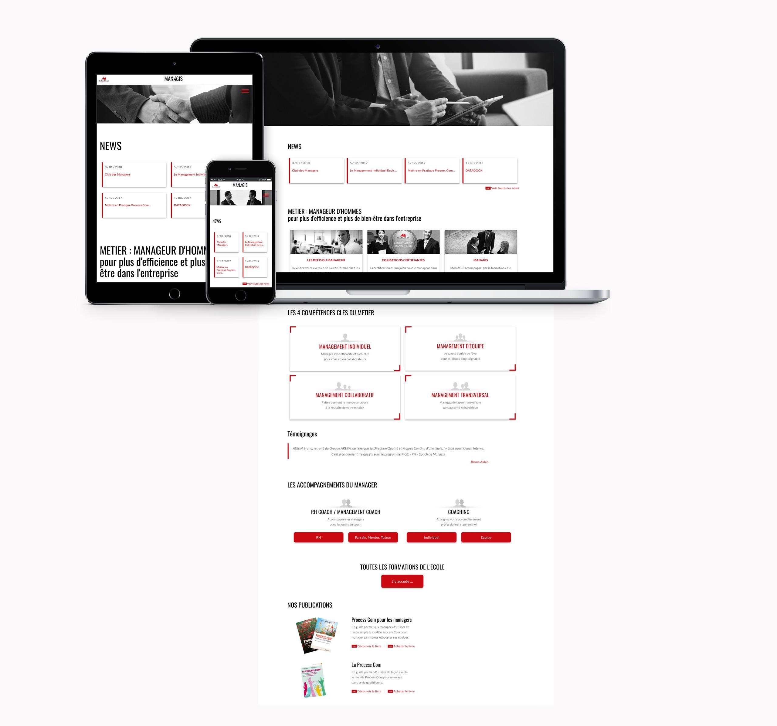 Managis - Ecole Management Paris, Réalisation 2018 - Webdesign - Matthieu Loigerot