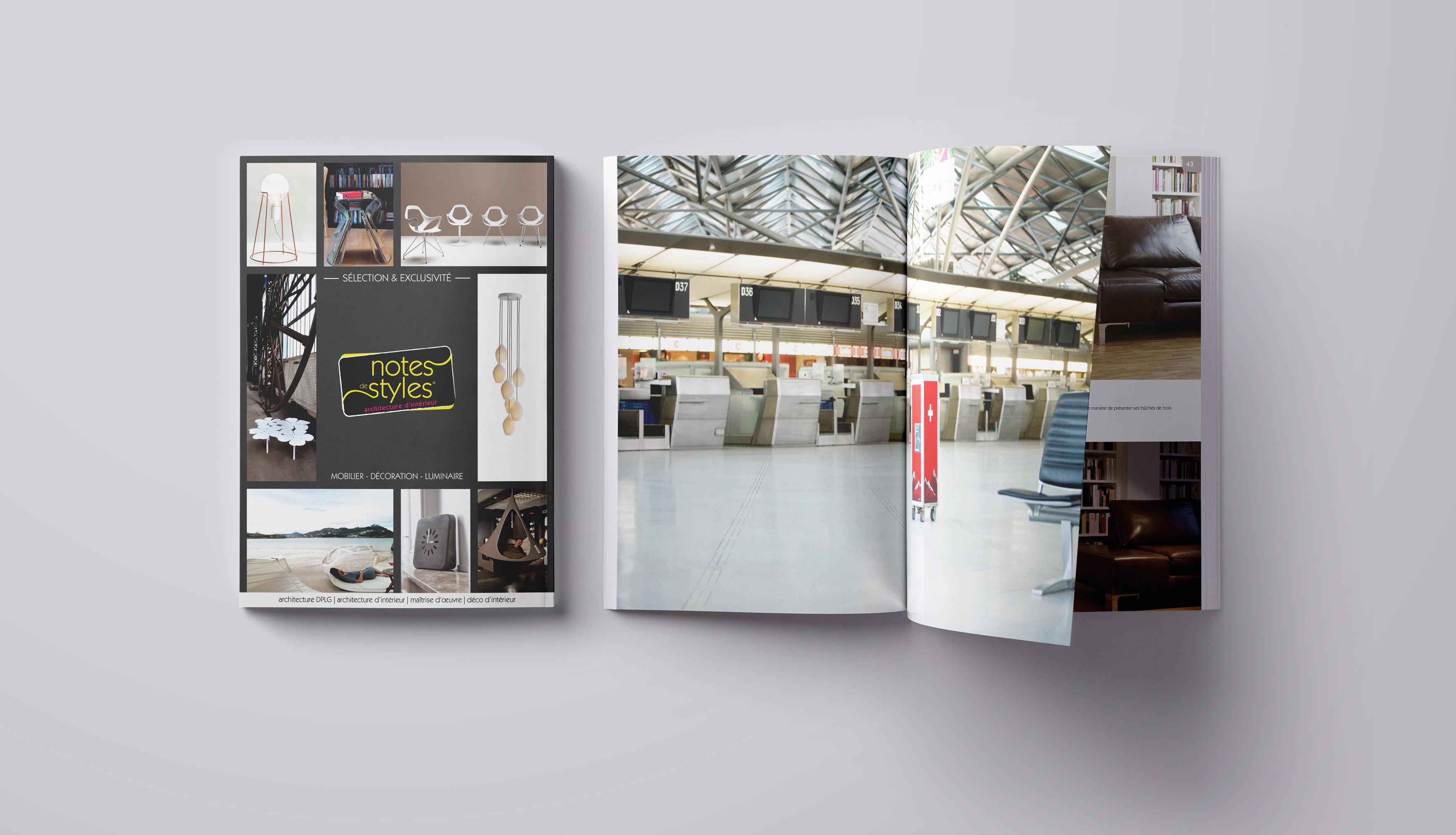 Notes de Styles, catalogue produits - Réalisation print 2017 - Matthieu Loigerot