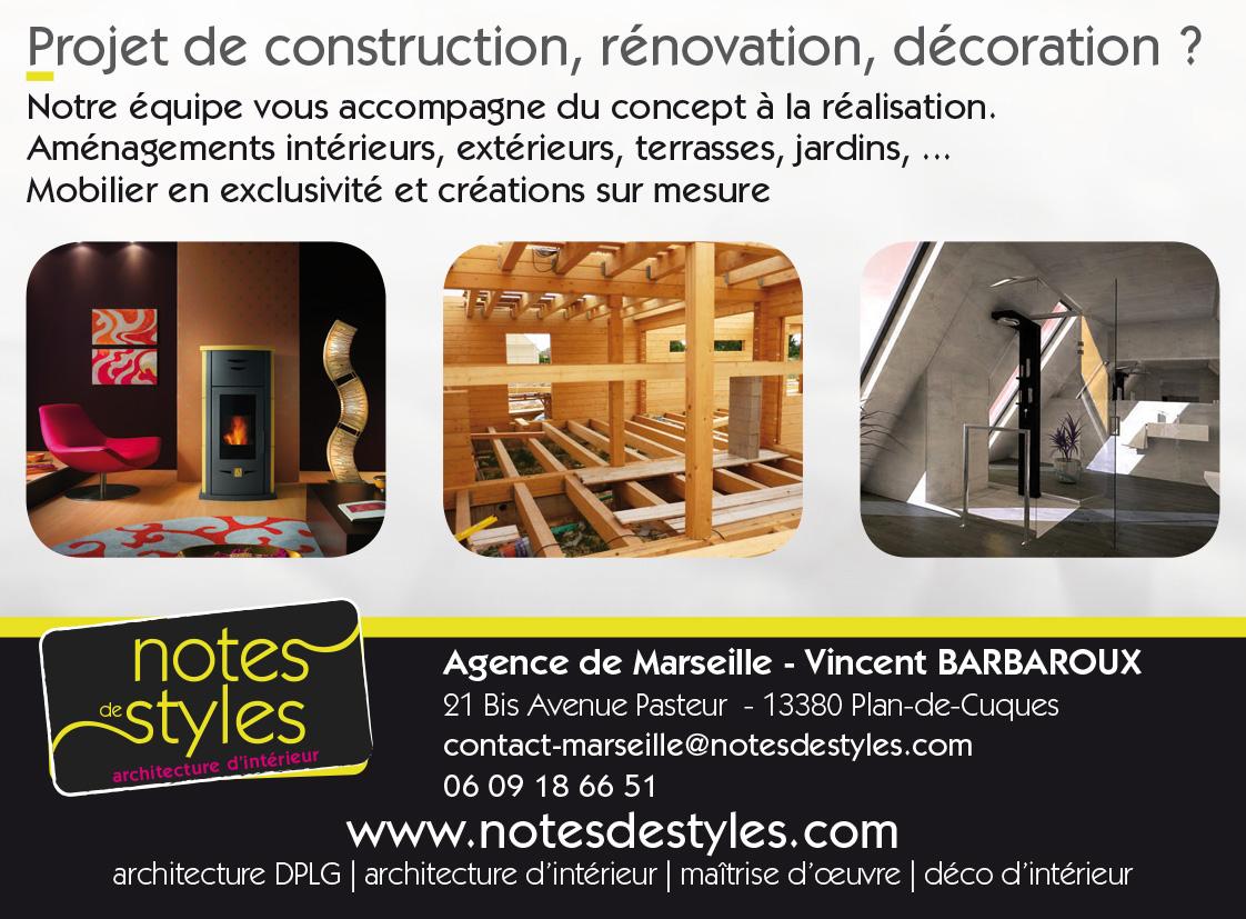 Publicité Notes de Styles Marseille - Réalisation 2018 - Print - Matthieu Loigerot