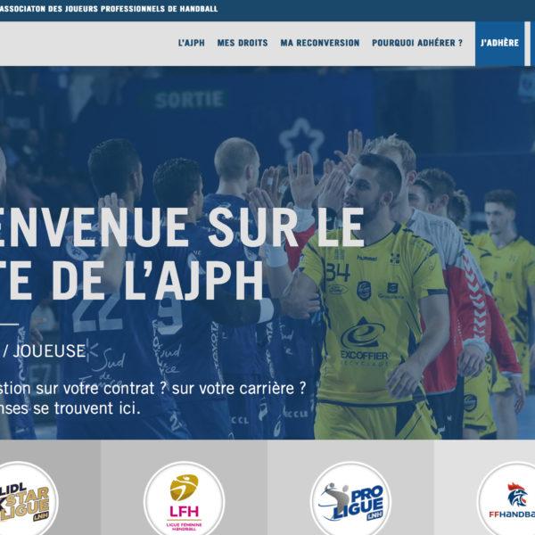 AJPH, Association des Joueurs Professionnels de Handball - Paris, Réalisation 2018 - Webdesign - Matthieu Loigerot