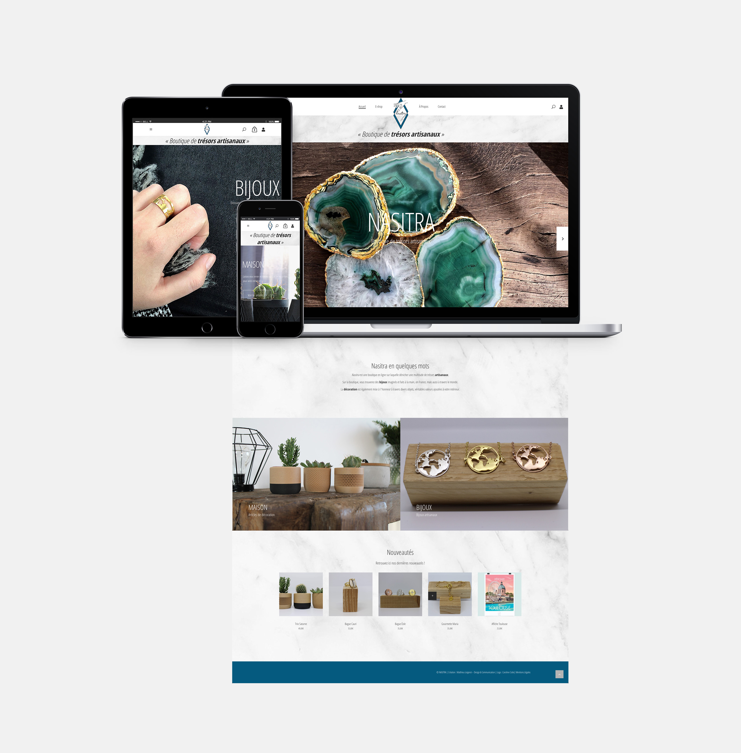 Nasitra Shop, boutique en ligne, Réalisation 2019 - Webdesign - Matthieu Loigerot