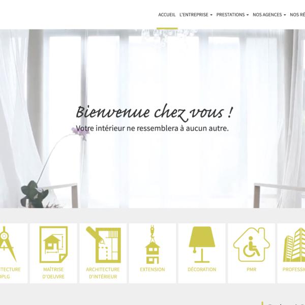 Notes de Styles - Réseau d'agence d'architecte d'intérieur et décorateur dans toute la france, Réalisation 2016 - Webdesign - Matthieu Loigerot