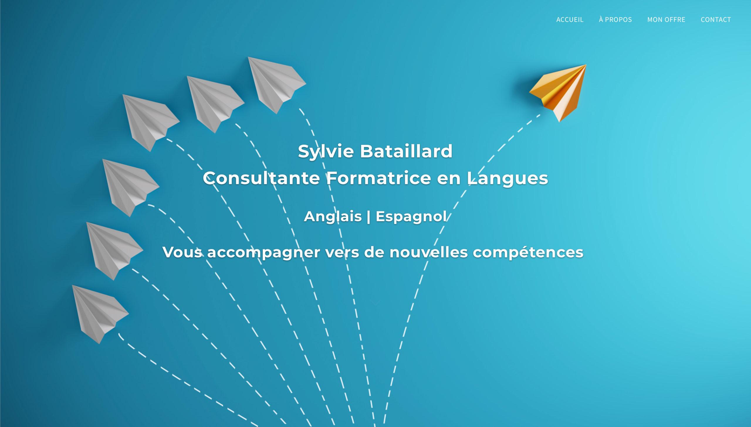 Sylvie Bataillard | Consultante formatrice en langues - 2020 - Webdesign - Matthieu Loigerot