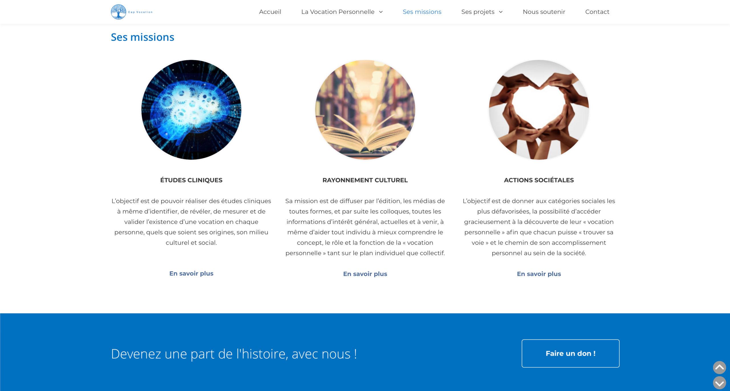 Cap Vocation - 2020 - Webdesign - Matthieu Loigerot