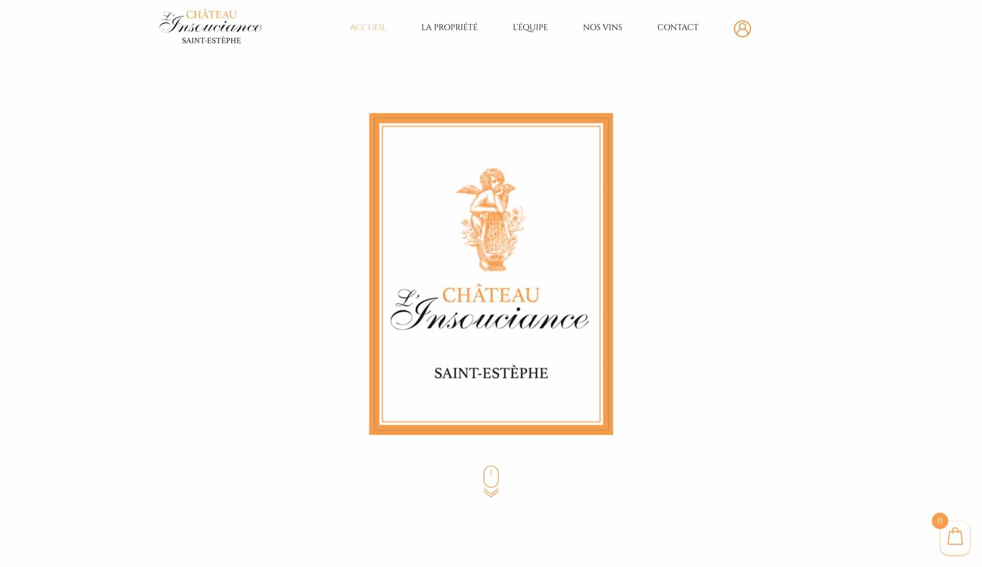 Château l'Insouciance - 2020 - Webdesign - Matthieu Loigerot