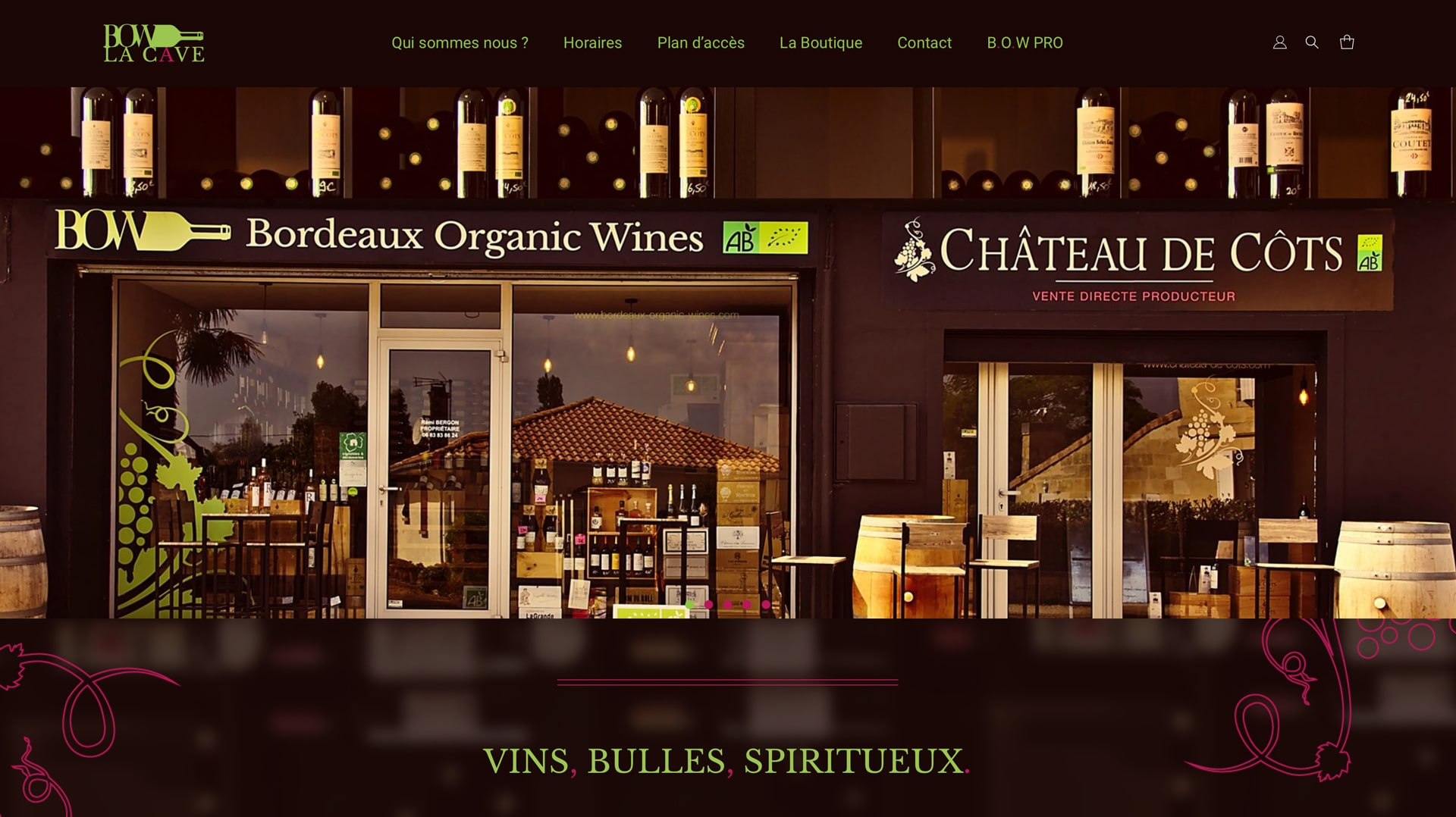 Bordeaux Organic Wines - Accueil